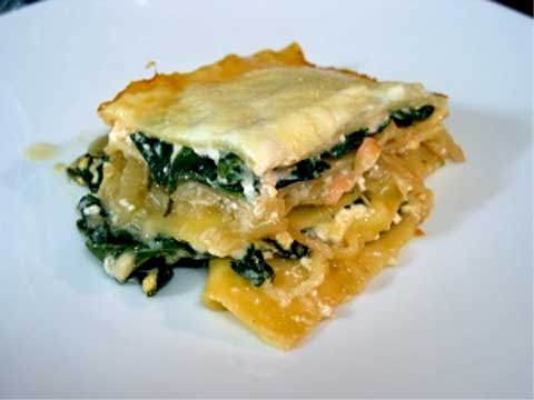 Lasagna with Chard and Three Cheeses