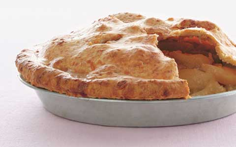 Apple-Asiago Pie with Vanilla Ice Cream