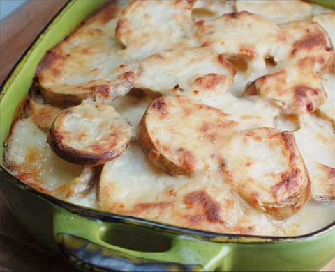 Potato-Tomato Gratin and Rouille