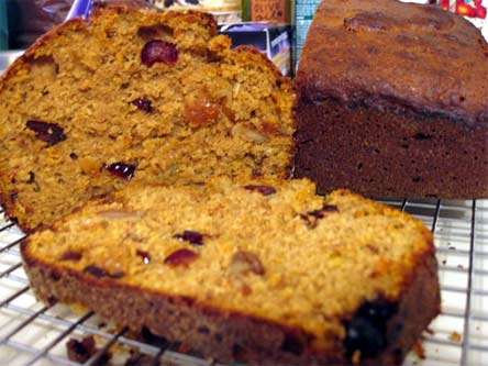 Pumpkin Wheat Berry Bread